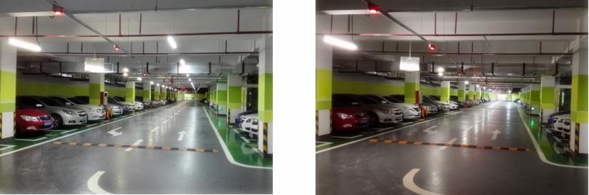 车库照明对比